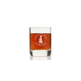 My Dog Is Not Disobedient Just Spontaneous Rock Glasses (Set of 4)