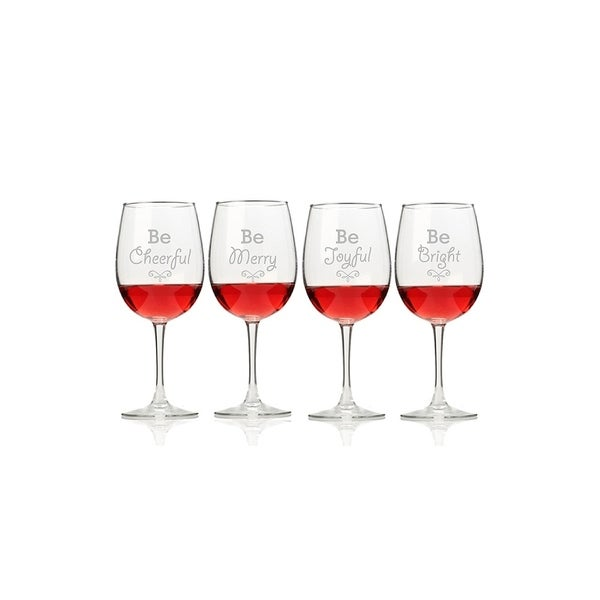 Holiday Cheer Wine Glasses (Set of 4)