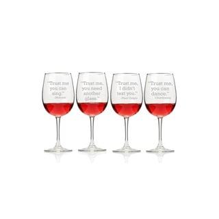 Trust Me - Wine Wine Glasses (Set of 4)