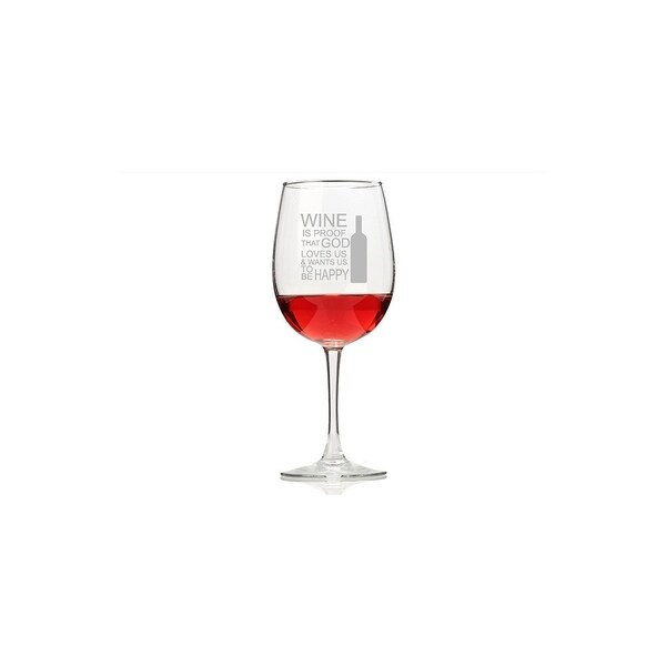 Wine Is Proof That God Loves Us Wine Glasses (Set of 4)
