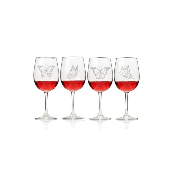 Butterflies Wine Glasses (Set of 4)