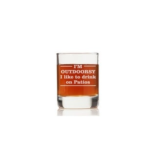 I'm Outdoorsy I Like To Drink on Patios  Rock Glasses (Set of 4)