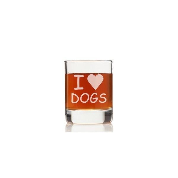 I Love Dogs Rock Glasses (Set of 4)