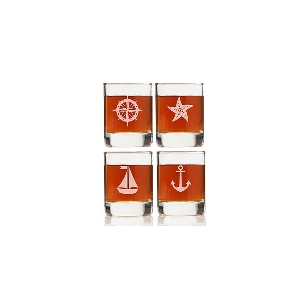 Nautical Collection Rock Glasses (Set of 4)