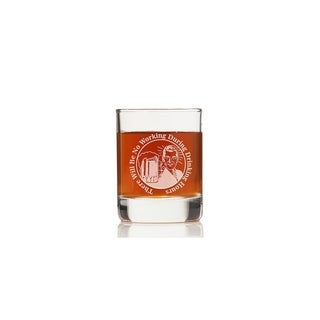 There Will Be No Working During Drinking Hours Rock Glasses (Set of 4)