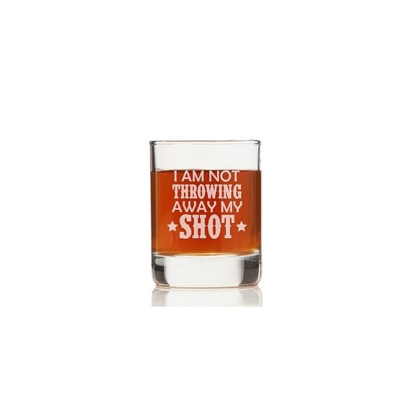 I Am Not Throwing Away My Shot Rock Glasses (Set of 4)