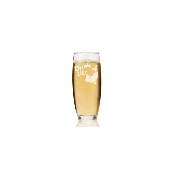 Drink Like a Fish Stemless Champagne Flute (Set of 4)
