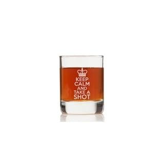 Keep Calm And Take A Shot Rock Glasses (Set of 4)