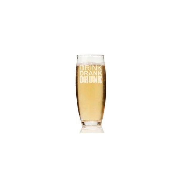 Drink Drunk Drank Stemless Champagne Flute (Set of 4)
