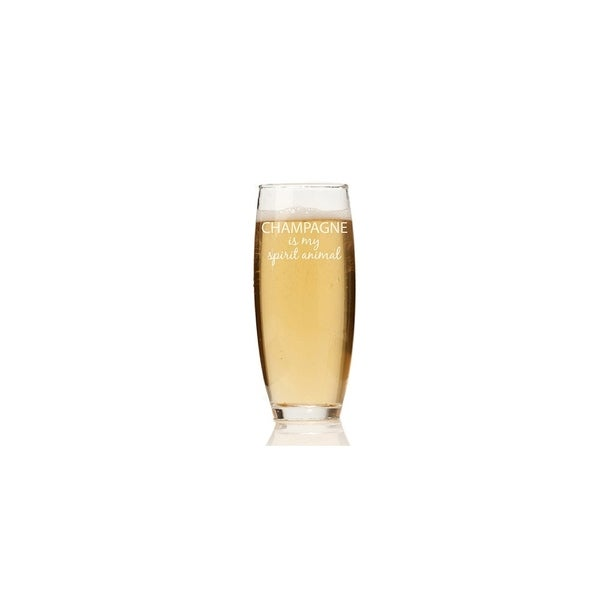 Champagne Is My Spirit Animal Stemless Champagne Flute (Set of 4)