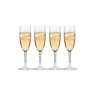 My Super Woman Champagne Flutes (Set of 4)