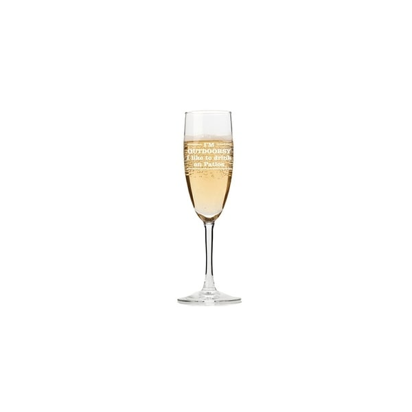 I'm Outdoorsy I Like To Drink On Patio Champagne Flutes (Set of 4)