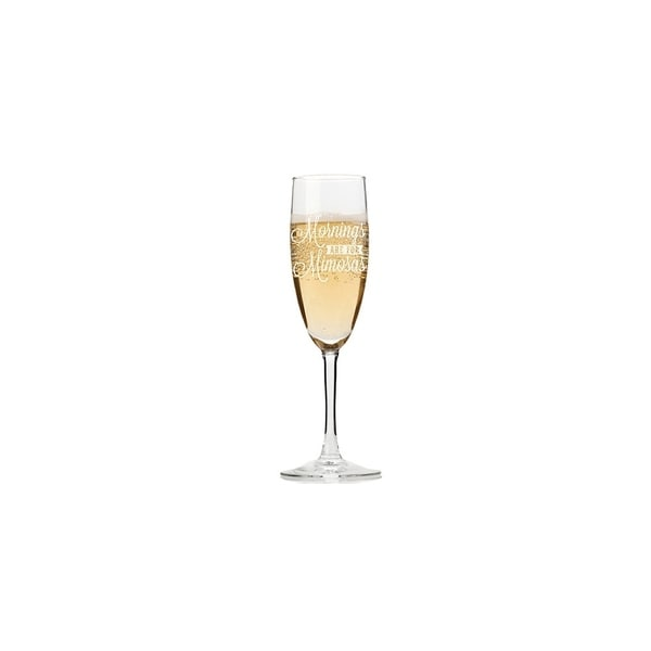 Mornings Are For Mimosas Champagne Flutes (Set of 4)