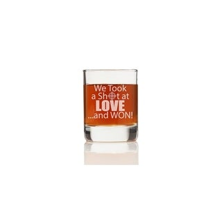 We Took A Shot at Love Shot Glass (Set of 4)