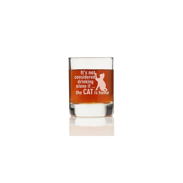 It's Not Drinking Alone If The Cat Is Home Shot Glass (Set of 4)