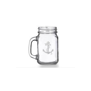 Anchor Mason Jar Mug (Set of 4)