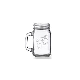 Drink Up Witches Mason Jar Mug (Set of 4)