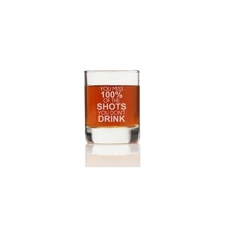 You Miss 100% Of The Shots Shot Glass (Set of 4)