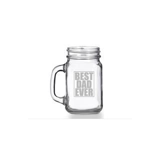 Best Dad Ever Mason Jar Mug (Set of 4)