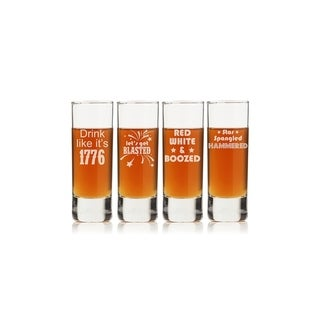 Happy 4th Tall Shot Glass (Set of 4)