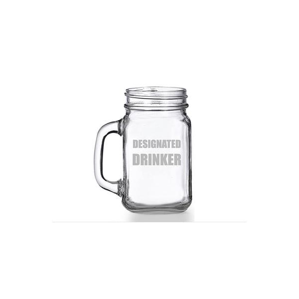 Designated Drinker Mason Jar Mug (Set of 4)