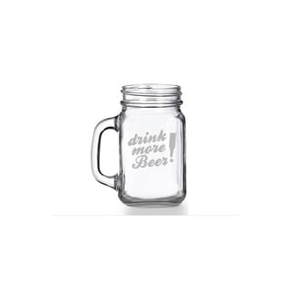 Drink More Beer Mason Jar Mug (Set of 4)