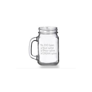 To Do List - Drink Wine Mason Jar Mug (Set of 4)