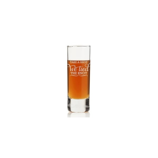 Take A Shot We Tied The Knot Tall Shot Glass (Set of 4)