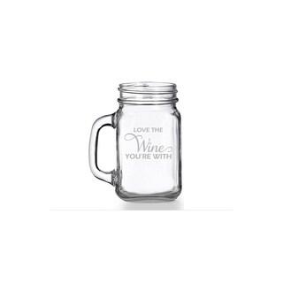 Love The Wine You're With Mason Jar Mug (Set of 4)