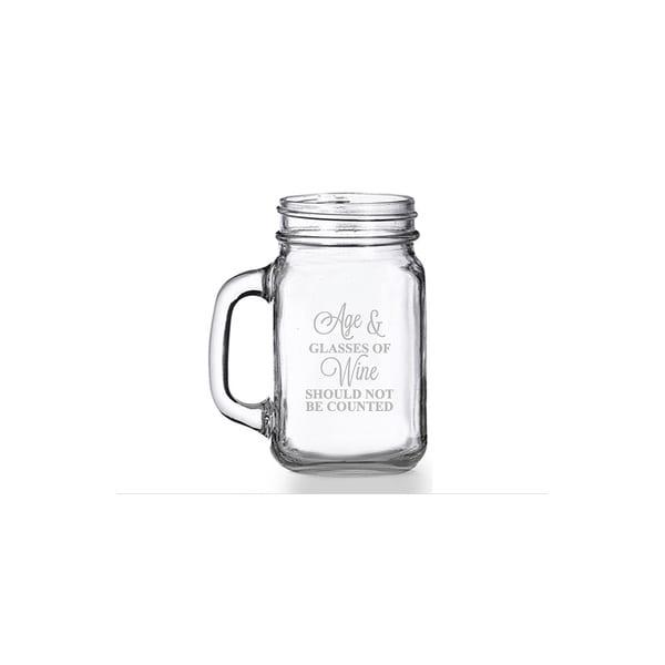 Age And Wine Should Not Be Counted Mason Jar Mug (Set of 4)