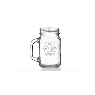 Save Water Drink Beer Mason Jar Mug (Set of 4)