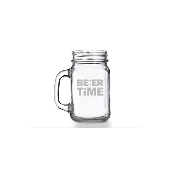 Beer Time Mason Jar Mug (Set of 4)