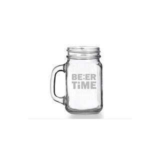 Beer Time Mason Jar Mug (Set of 4)