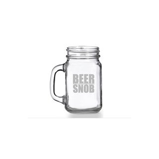 Beer Snob Mason Jar Mug (Set of 4)