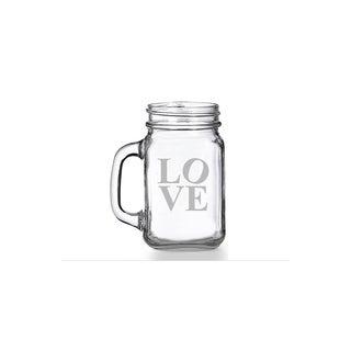 Modern Love Mason Jar Mug (Set of 4)
