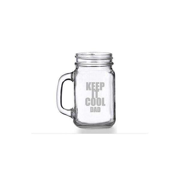 Keep It Cool Dad Mason Jar Mug (Set of 4)