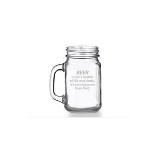 Beer is Not a Matter of Life and Death Mason Jar Mug (Set of 4)