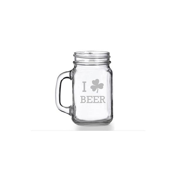 I Shamrock Beer Mason Jar Mug (Set of 4)