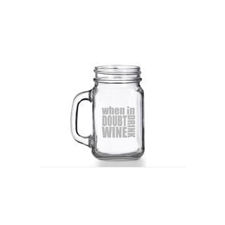 When in Doubt Drink Wine Mason Jar Mug (Set of 4)