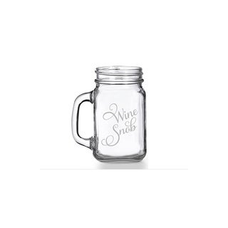 Wine Snob Mason Jar Mug (Set of 4)