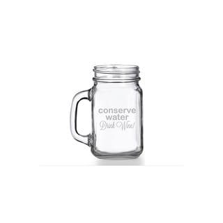Conserve Water Drink Wine Mason Jar Mug (Set of 4)