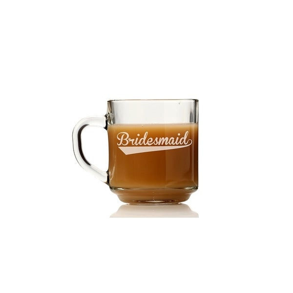 Bridesmaid Sport Glass Coffee Mug (Set of 4)
