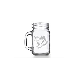 Drink Like A Fish I'm A Mermaid Mason Jar Mug (Set of 4)