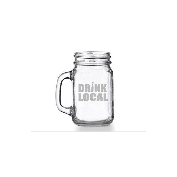 Drink Local Mason Jar Mug (Set of 4)