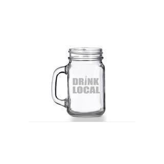 Drink Local Mason Jar Mug (Set of 4)