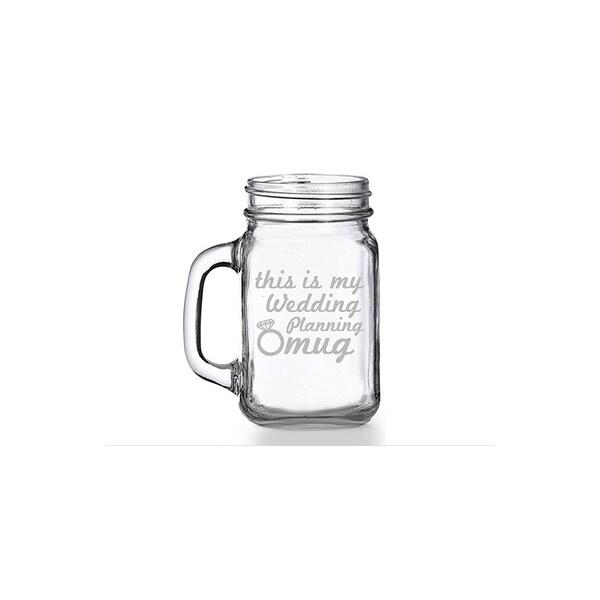 This is My Wedding Planning Mug Mason Jar Mug (Set of 4)