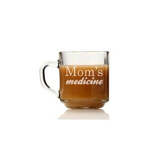 Mom's Medicine Glass Coffee Mug (Set of 4)