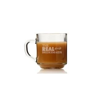 The Real Bridesmaids Glass Coffee Mug (Set of 4)