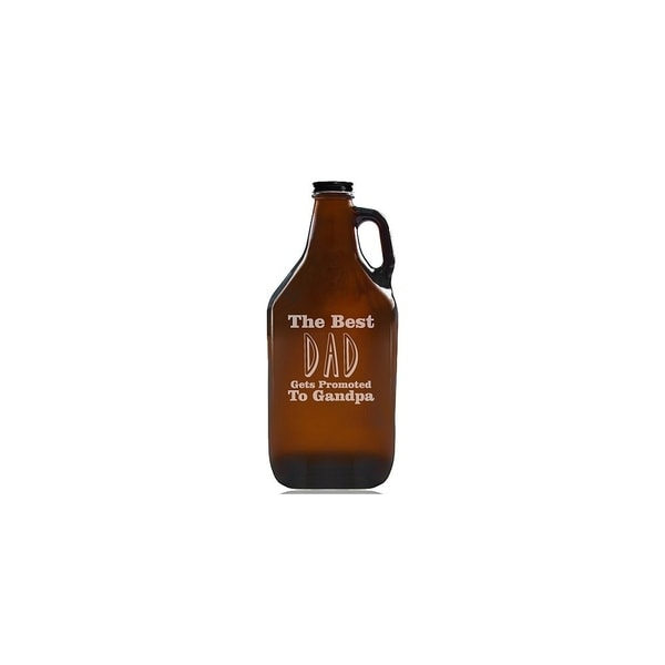 The Best Dad Gets Promoted To Grandpa Beer Amber Growler