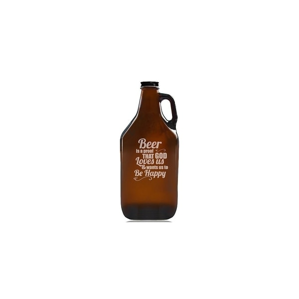 Beer is a Proof That God Loves Us Beer Amber Growler